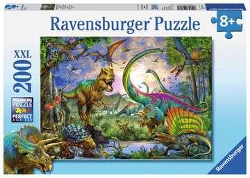 Puzzle 200 p XXL - Le royaume des dinosaures Puzzle;Puzzle enfant - Image 1 - Ravensburger