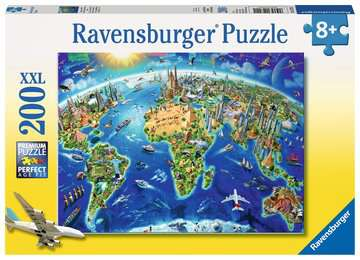 World Landmarks Map XXL200 Puzzles;Children s Puzzles - image 1 - Ravensburger