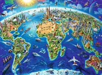 World Landmarks Map XXL200 Puzzles;Children s Puzzles - image 2 - Ravensburger