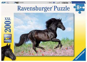 Puzzle 200 p XXL - Etalon noir Puzzle;Puzzle enfant - Image 1 - Ravensburger