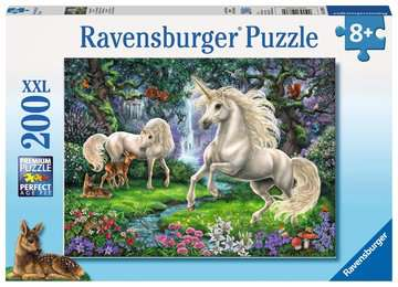 12838 Kinderpuzzle Geheimnisvolle Einhörner von Ravensburger 1