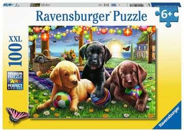 Psí piknik 100 dílků 2D Puzzle;Dětské puzzle - obrázek 1 - Ravensburger