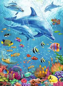 Pod of Dolphins XXL 100pc Puzzles;Children s Puzzles - image 2 - Ravensburger