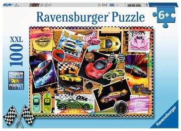 12899 Kinderpuzzle Rennwagen Pinnwand von Ravensburger 1