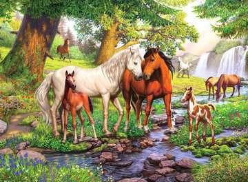 12904 Kinderpuzzle Wildpferde am Fluss von Ravensburger 2