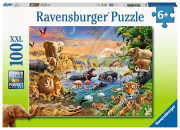 Savannah Jungle Waterhole Jigsaw Puzzles;Children s Puzzles - image 1 - Ravensburger