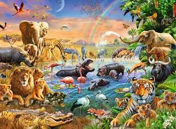 Savannah Jungle Waterhole Jigsaw Puzzles;Children s Puzzles - image 2 - Ravensburger