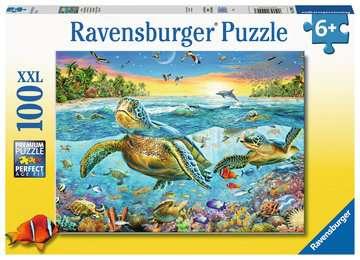 Swim with Sea Turtles XXL 100pc Puslespil;Puslespil for børn - Billede 1 - Ravensburger