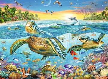 Swim with Sea Turtles XXL 100pc Puslespil;Puslespil for børn - Billede 2 - Ravensburger