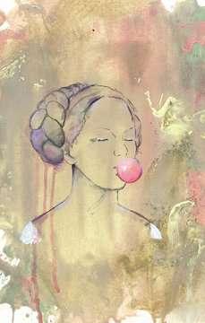 12966 Erwachsenenpuzzle Bubblegumlady von Ravensburger 3
