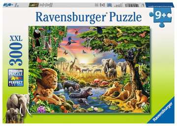 Evening at the Waterhole Jigsaw Puzzles;Children s Puzzles - image 1 - Ravensburger