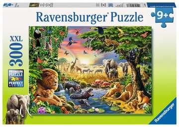13073 Kinderpuzzle Abendsonne am Wasserloch von Ravensburger 1