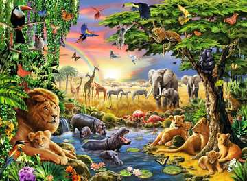 Evening at the Waterhole Jigsaw Puzzles;Children s Puzzles - image 2 - Ravensburger