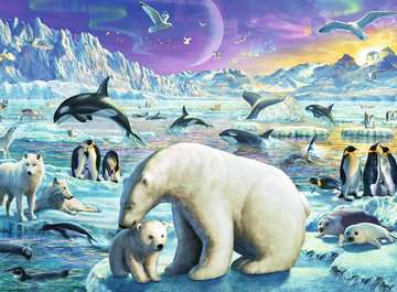 Polar Animals Gathering XXL300 Puslespill;Barnepuslespill - bilde 2 - Ravensburger