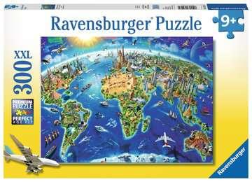 World Landmarks Map Jigsaw Puzzles;Children s Puzzles - image 1 - Ravensburger
