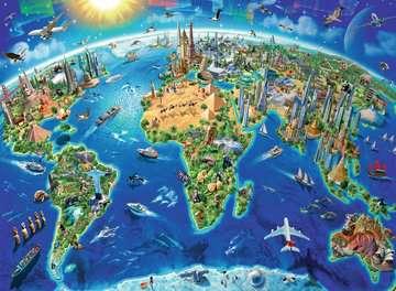 World Landmarks Map Jigsaw Puzzles;Children s Puzzles - image 2 - Ravensburger