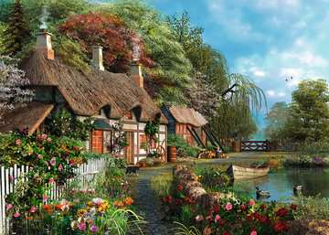 Cottage on a Lake Jigsaw Puzzles;Adult Puzzles - image 2 - Ravensburger