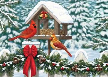 Cardinals at Christmas Jigsaw Puzzles;Adult Puzzles - image 2 - Ravensburger