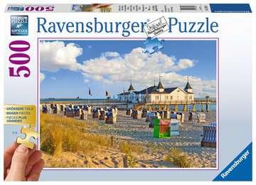 13652 Erwachsenenpuzzle Strandkörbe in Ahlbeck von Ravensburger 1