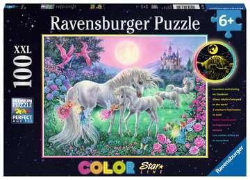 13670 Kinderpuzzle Einhörner im Mondschein von Ravensburger 1