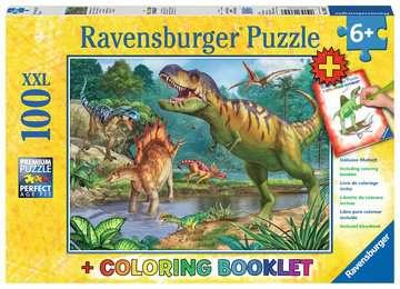 13695 Kinderpuzzle Welt der Dinosaurier von Ravensburger 1