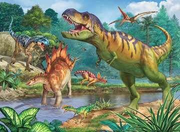 13695 Kinderpuzzle Welt der Dinosaurier von Ravensburger 2