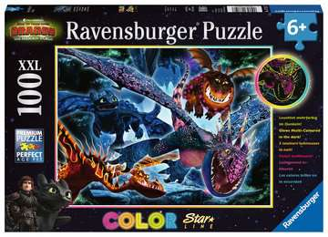 Dragons B Ravensburger Puzzle  100 pz. XXL Puzzle;Puzzle per Bambini - immagine 1 - Ravensburger