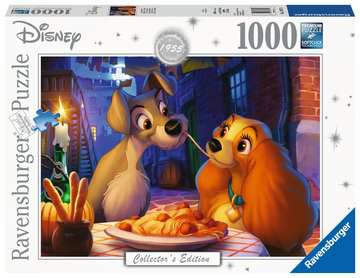 Puzzle 1000 p - La Belle et le Clochard (Collection Disney) Puzzle;Puzzles adultes - Image 1 - Ravensburger