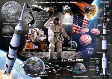 Moon Landing 50th Anniversary, 1000pc Puzzles;Adult Puzzles - image 2 - Ravensburger