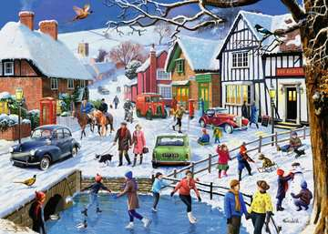 Leisure Days No.3 The Winter Village, 1000pc Puzzles;Adult Puzzles - image 2 - Ravensburger