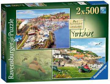 Picturesque Yorkshire 2x500pc (Whitby & Runswick Bay) Puzzles;Adult Puzzles - image 1 - Ravensburger