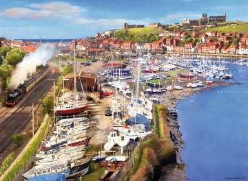 Picturesque Yorkshire 2x500pc (Whitby & Runswick Bay) Puzzles;Adult Puzzles - image 3 - Ravensburger