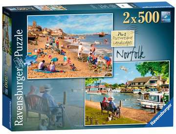 Picturesque Norfolk 2x500pc (Cromer & Horning) Puzzles;Adult Puzzles - image 1 - Ravensburger