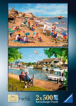 Picturesque Norfolk 2x500pc (Cromer & Horning) Puzzles;Adult Puzzles - image 4 - Ravensburger
