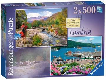 Picturesque Cumbria, 2x500pc Puzzles;Adult Puzzles - image 1 - Ravensburger