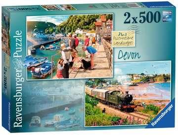 Picturesque Devon, 2x500pc Puzzles;Adult Puzzles - image 1 - Ravensburger
