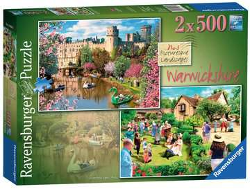 Picturesque Warwickshire, 2x500pc Puzzles;Adult Puzzles - image 1 - Ravensburger