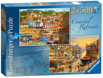 Coastal Retreats, 2x500pc Puzzles;Adult Puzzles - image 1 - Ravensburger