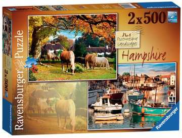 Picturesque Hampshire 2x500pc Puzzles;Adult Puzzles - image 1 - Ravensburger