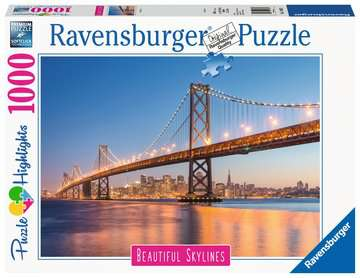 Beautiful Skylines - Oakland Bay Bridge, 1000pc Puslespil;Puslespil for voksne - Billede 1 - Ravensburger