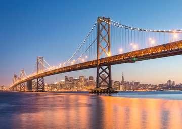 Beautiful Skylines - Oakland Bay Bridge, 1000pc Puslespil;Puslespil for voksne - Billede 2 - Ravensburger