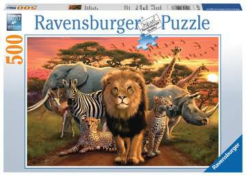 AFRYKAŃSKI PEJZAŻ 500EL. Puzzle;Puzzle dla dzieci - Zdjęcie 1 - Ravensburger
