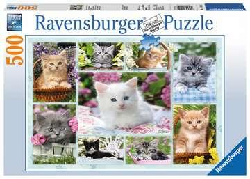 Kitten in a Basket, 500pc Puslespil;Puslespil for voksne - Billede 1 - Ravensburger
