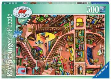 GROTESKOWA BIBLIOTECZKA  500EL Puzzle;Puzzle dla dzieci - Zdjęcie 1 - Ravensburger