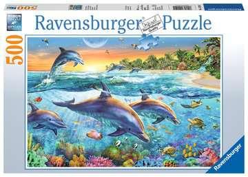 DELFINY PUZZLE 500 EL. Puzzle;Puzzle dla dzieci - Zdjęcie 1 - Ravensburger