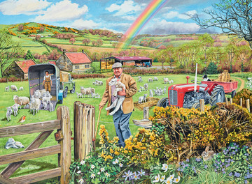 Happy Days at Work – The Farmer, 500pc Puzzles;Adult Puzzles - image 2 - Ravensburger