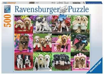 Puppy Pals 500pc Puslespil;Puslespil for voksne - Billede 1 - Ravensburger