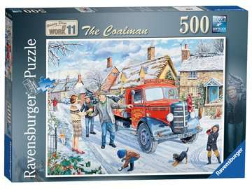 Happy Days at Work - The Coalman, 500pc Puzzles;Adult Puzzles - image 1 - Ravensburger