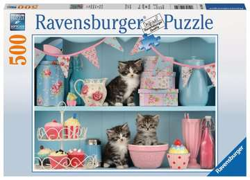 Kittens and Cupcakes, 500pc Puslespil;Puslespil for voksne - Billede 1 - Ravensburger