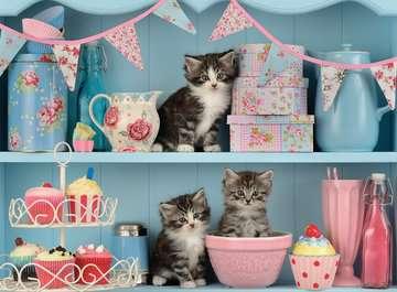 Kittens and Cupcakes, 500pc Puslespil;Puslespil for voksne - Billede 2 - Ravensburger